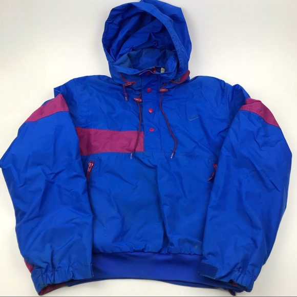 d937c902cd Vintage Gray Tag 80s NIKE Nylon Blue Purple Jacket.  M 5aaaa4db8af1c58cbdbbd317